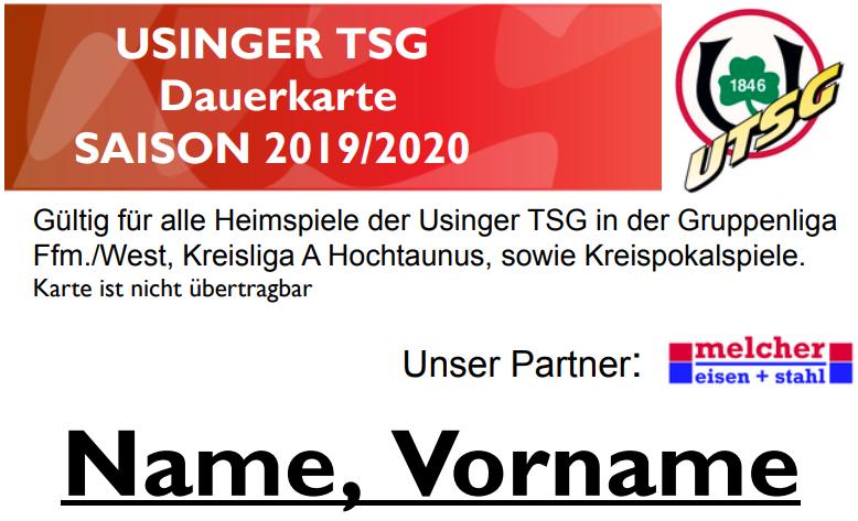 Dauerkarte UTSG 2019/20