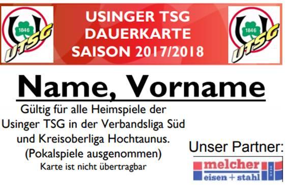 Dauerkarte UTSG 2017/18
