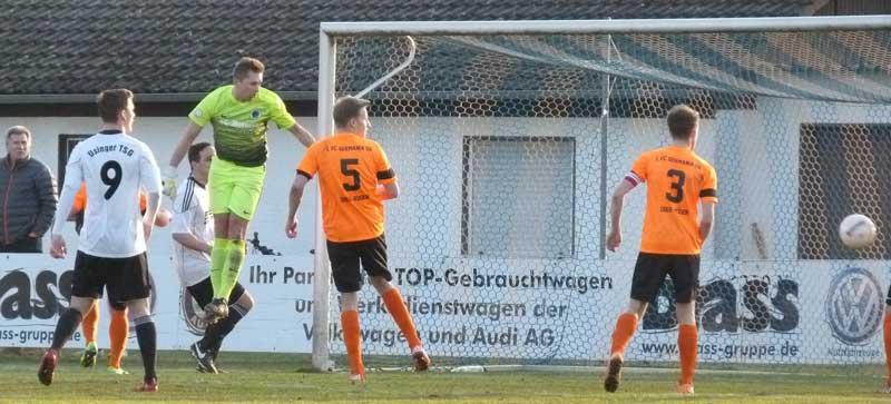 UTSG holt glücklichen Punkt bei Germania Ober-Roden – Torwart Kornmesser bester UTSGler