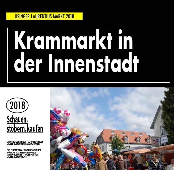 Krammarkt in der Usinger Innenstadt