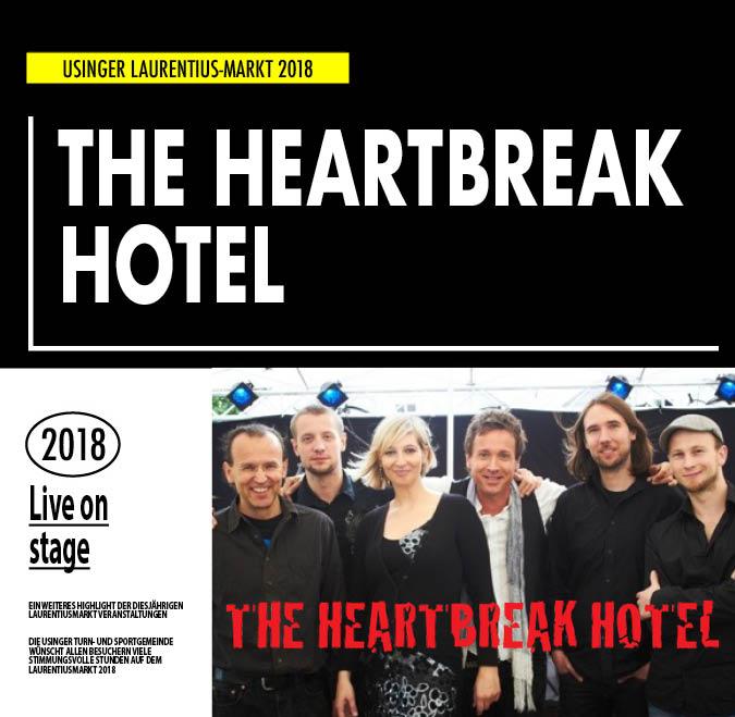 The Heartbreak Hotel. Live Auftritt beim Usinger Laurentius-Markt 2018. Präsentiert von der Usinger Turn- und Sportgemeinde (UTSG)