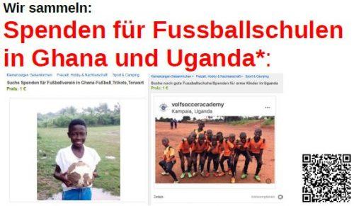 Jugendfussball-Abteilung sammmelt Spenden
